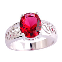 Spinel ring as imitation of red ruby