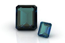 Polished cut alexandrite gemstone
